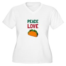 Peace Love Taco Plus Size T-Shirt