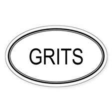 GRITS (oval) Oval Decal
