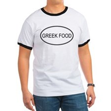 GREEK FOOD (oval) T