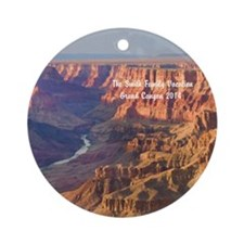 Personalized Grand Canyon Family Ornament (round)