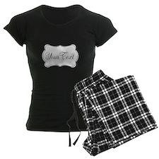 Personalizable Black and White Script Pajamas