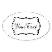 Personalizable Black and White Script Decal