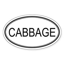 CABBAGE (oval) Oval Decal
