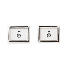 Unicycle Rectangular Cufflinks