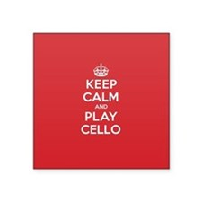 "Cute Keep calm and play Square Sticker 3"" x 3"""