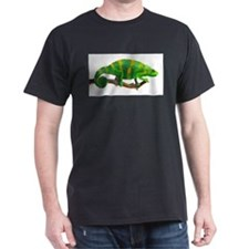 Green and Gold Chameleon on a Stick T-Shirt