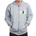 You Can Take Girl Out Of Jersey Pink 2 Zip Hoodie