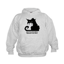 Angry Pissed Off Black Cat Hoodie