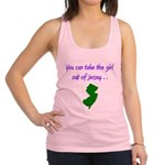You Can Take Girl Out Of Jersey Racerback Tank Top