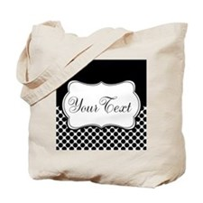 Personalizable Black and White Tote Bag