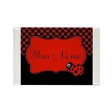 Personalizable Ladybug Polk Dots Magnets
