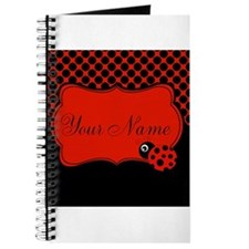 Personalizable Ladybug Polk Dots Journal