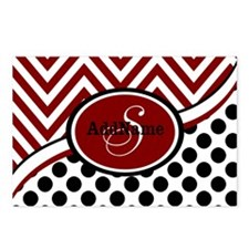 Red and Black Chevron Dot Postcards (Package of 8)