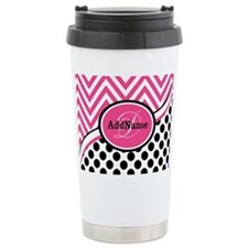 Black White Chevron Bri Travel Coffee Mug