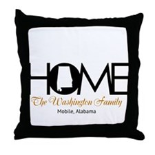 Alabama Home Throw Pillow