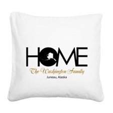 Alaska Home Square Canvas Pillow