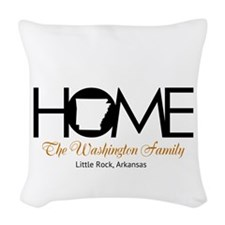 Arkansas Home Woven Throw Pillow