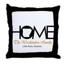 Arkansas Home Throw Pillow