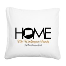 Connecticut Home Square Canvas Pillow