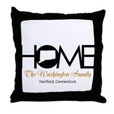 Connecticut Home Throw Pillow