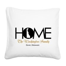 Delaware Home Square Canvas Pillow