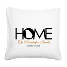 Georgia Home Square Canvas Pillow