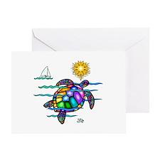 Sea Turtle (nobk) Greeting Card