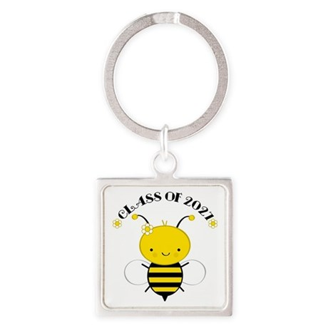 Class of 2027 bee Square Keychain