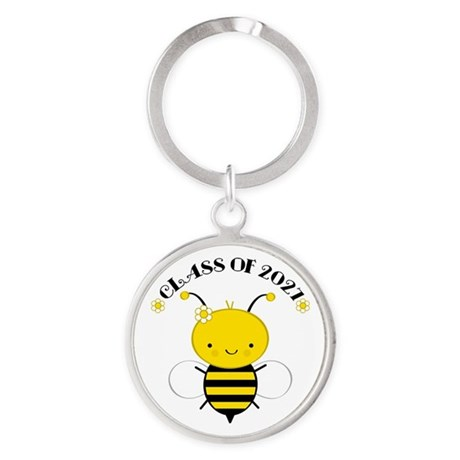 Class of 2027 bee Round Keychain