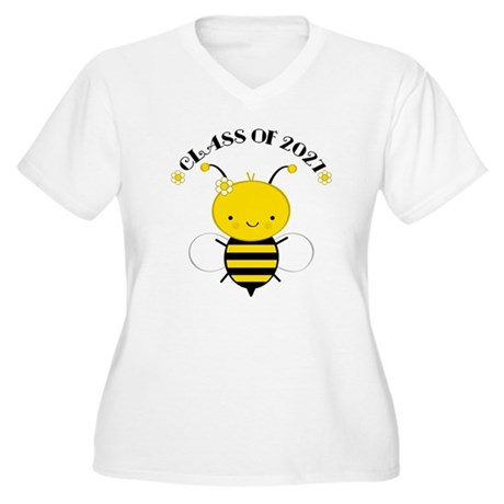Class of 2027 bee Women's Plus Size V-Neck T-Shirt