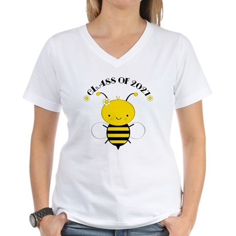 Class of 2027 bee Women's V-Neck T-Shirt