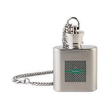 Aqua Turquoise Custom Personalized Flask Necklace