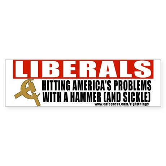 Liberals and Communism Bumper Sticker