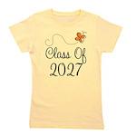 Class of 2027 Orange Butterfly Girl's Tee
