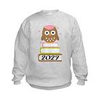 2027 owl on books.png Sweatshirt