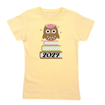 2027 owl on books.png Girl's Tee