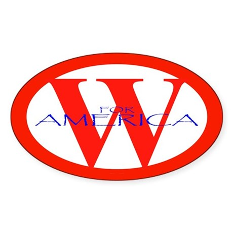W for America '04 Oval Sticker