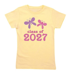 2027 butterflies class.png Girl's Tee