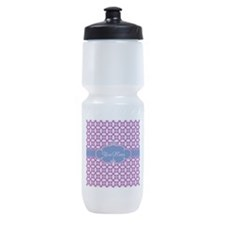 Magenta Blue Personalized Name Sports Bottle