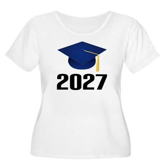Class of 2027 Women's Plus Size Scoop Neck T-Shirt