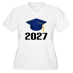Class of 2027 Gra Women's Plus Size V-Neck T-Shirt