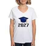 Class of 2027 Grad Women's V-Neck T-Shirt