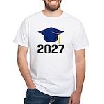 Class of 2027 Grad White T-Shirt
