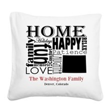 Colorado Text Square Canvas Pillow