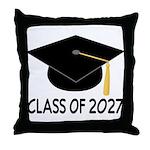 Class of 2027 Grad Throw Pillow