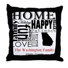 Georgia Text Throw Pillow
