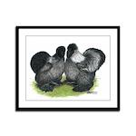 Gray Silkies Framed Panel Print