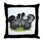Gray Silkies Throw Pillow
