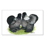 Gray Silkies Rectangle Sticker