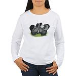 Gray Silkies Women's Long Sleeve T-Shirt